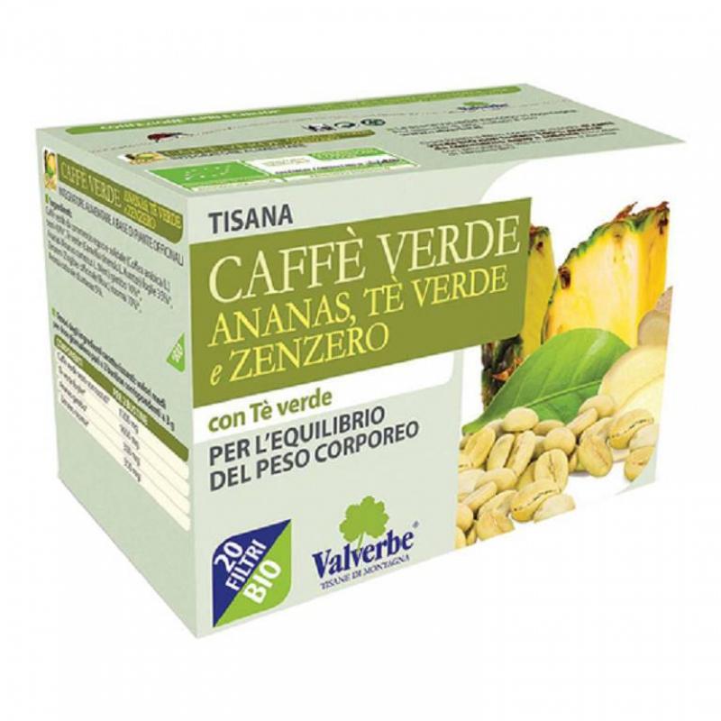 TISANA CAFFE VERDE ANANAS TE VERDE/ZENZERO 30G