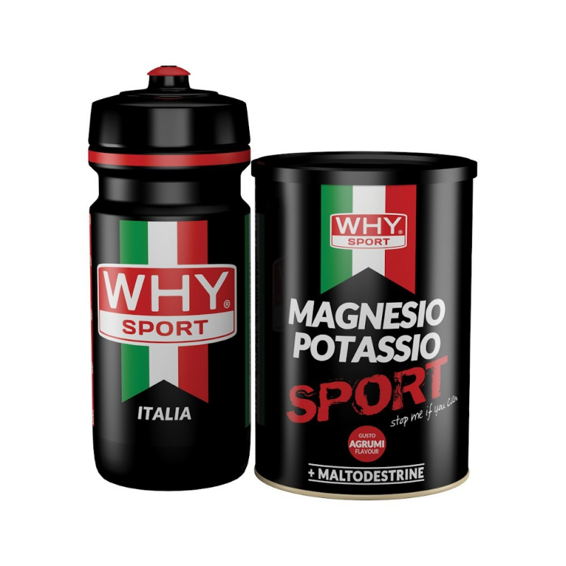 WHYSPORT MAGNESIO POTASSIO SPORT POLVERE 400 G + BORRACCIA