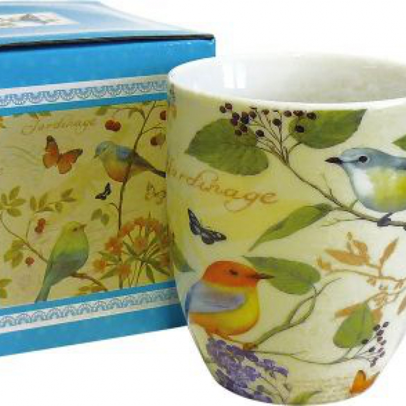 MUG BIRDS GIALLO
