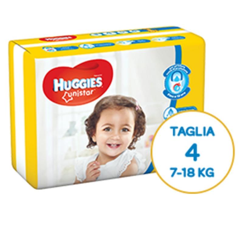 Huggies Pannolini Unistar 4 (7-18 kg)