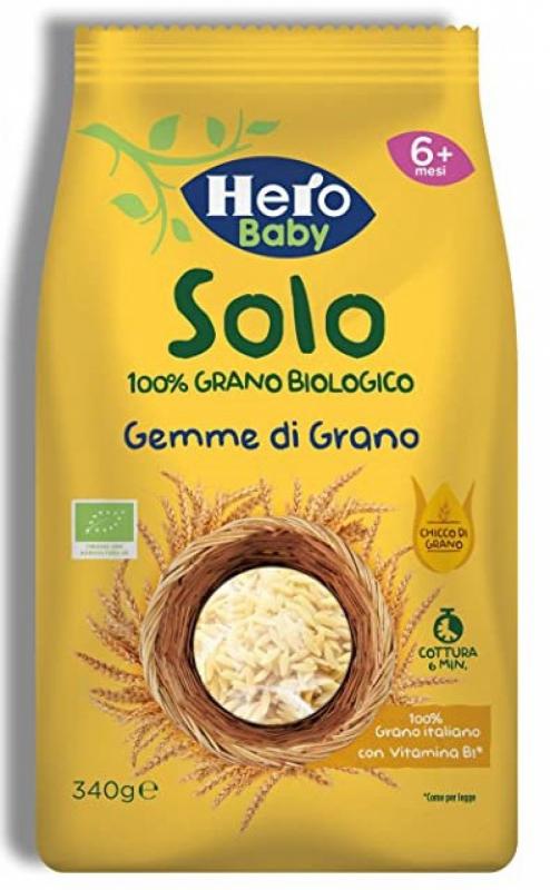 HERO SOLO PASTINA DI SEMOLA DI GRANO DURO 100% BIO 340 G