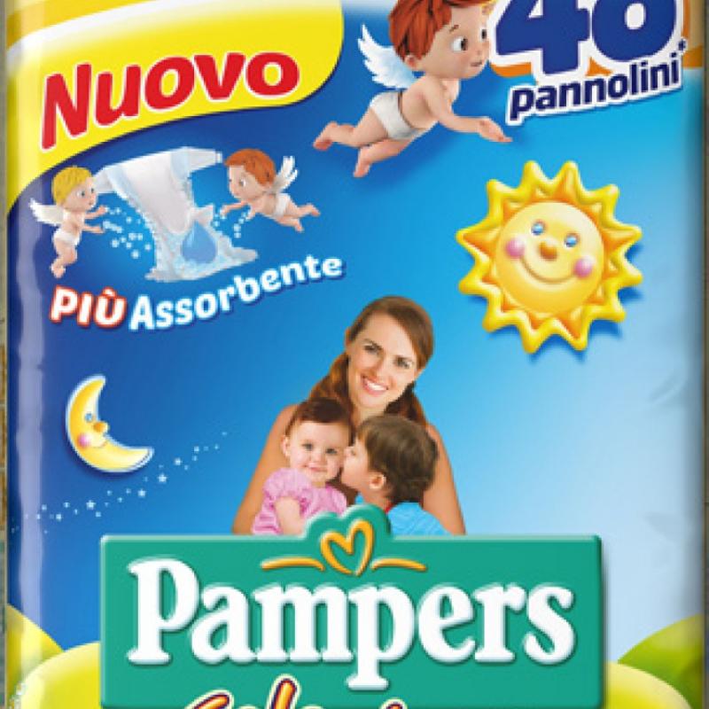 2 CONFEZIONI PAMPERS SOLE&LUNA TRIO J 48PZ