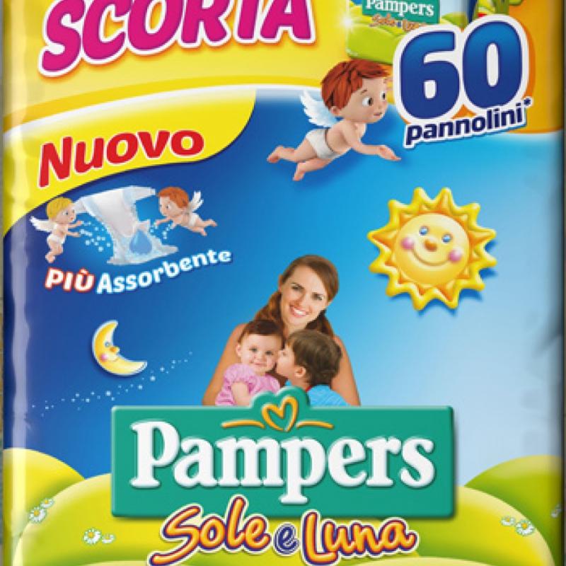 2 CONFEZIONI PAMPERS SOLE&LUNA TRIO MIDI 60