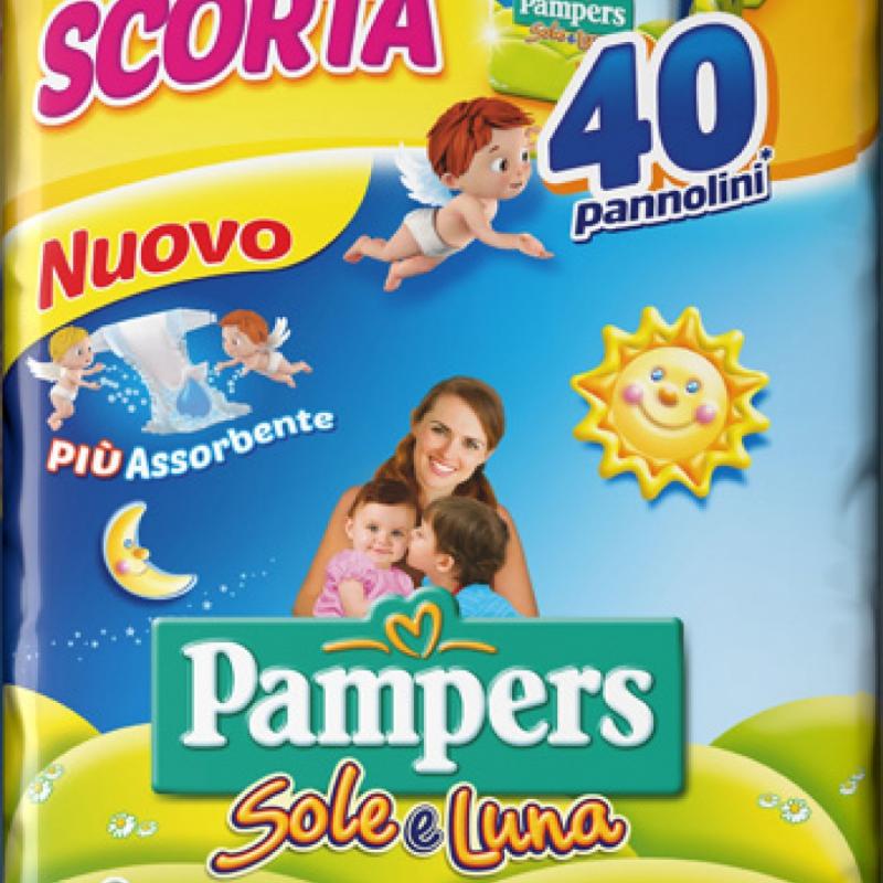2 CONFEZIONI PAMPERS SOLE&LUNA TRIO XL 40PZ