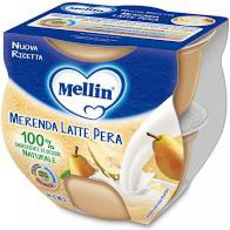 MELLIN MERENDA LATTE PERA 2 X 100 G