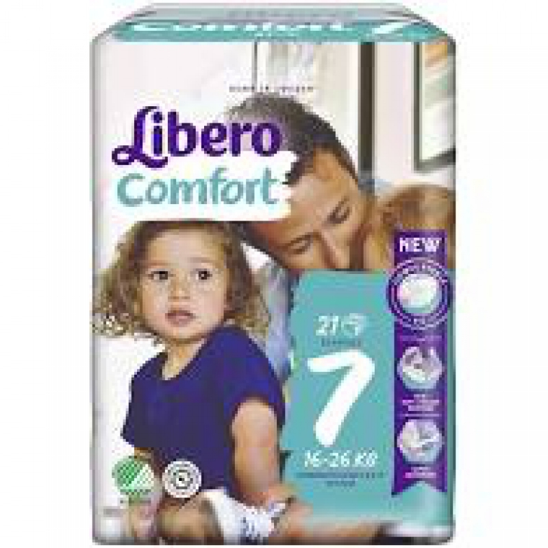 LIBERO COMFORT 7 PANNOLINO PER BAMBINO 16-26 KG 21 PEZZI