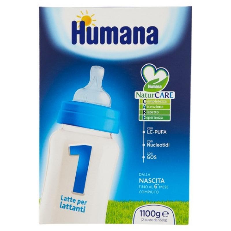 HUMANA 1 LCP+GOS+NUCL 1100G polv