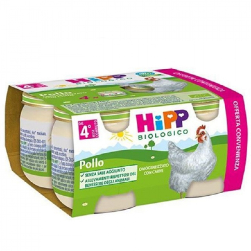 Hipp omogeneizzato biologico pollo