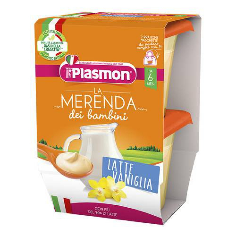 PLASMON LA MERENDA DEI BAMBINI MERENDE LATTE VANIGLIA ASETTICO 2 X 120 G